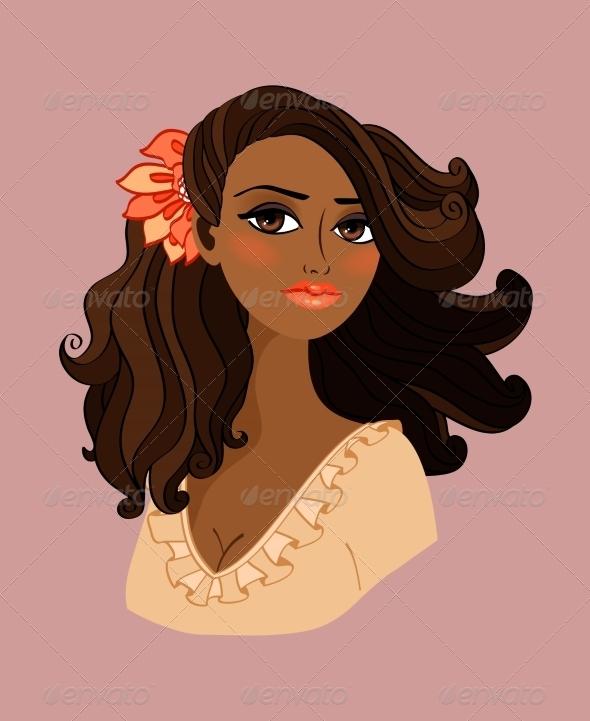 Black Woman Portrait - People Characters