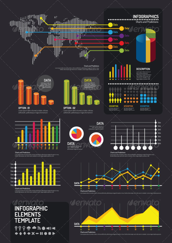 Infographic Elements Template Vector - Infographics