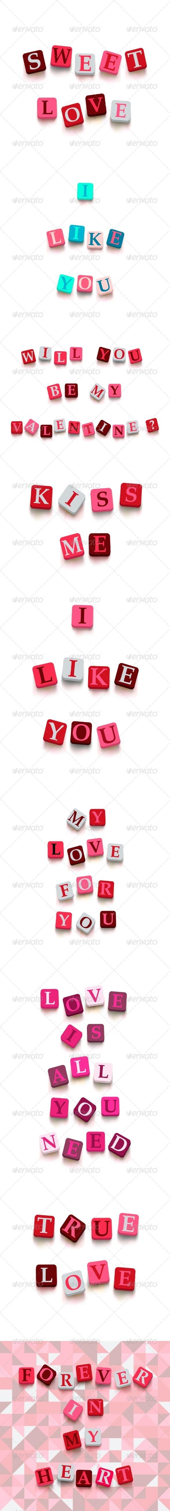 Valentine Cards Set - Valentines Seasons/Holidays