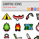 Camping Icons Vector - GraphicRiver Item for Sale