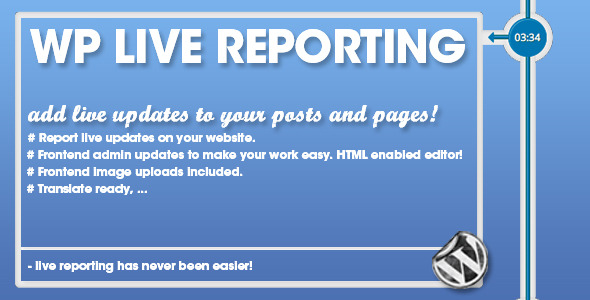 WP Pro Live Reporting - CodeCanyon Item for Sale