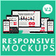 Flat Responsive Screen Mockups V.2 - GraphicRiver Item for Sale