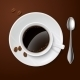 White Cup with Coffee - GraphicRiver Item for Sale