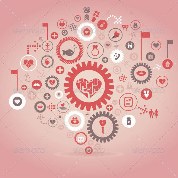 Love a Gear Wheel - Valentines Seasons/Holidays