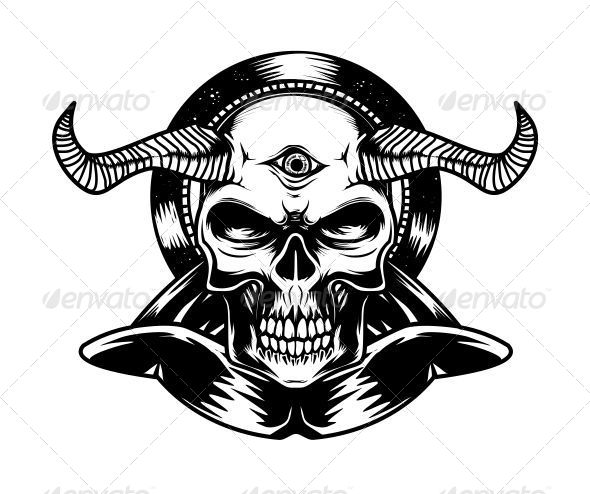 Devil Skull  - Vectors