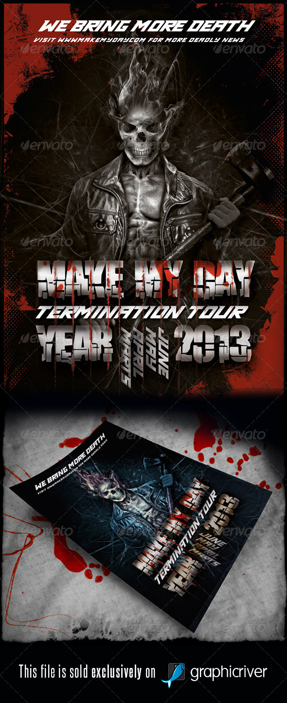 Heavy Metal Flyer/Poster Vol.8 - Events Flyers