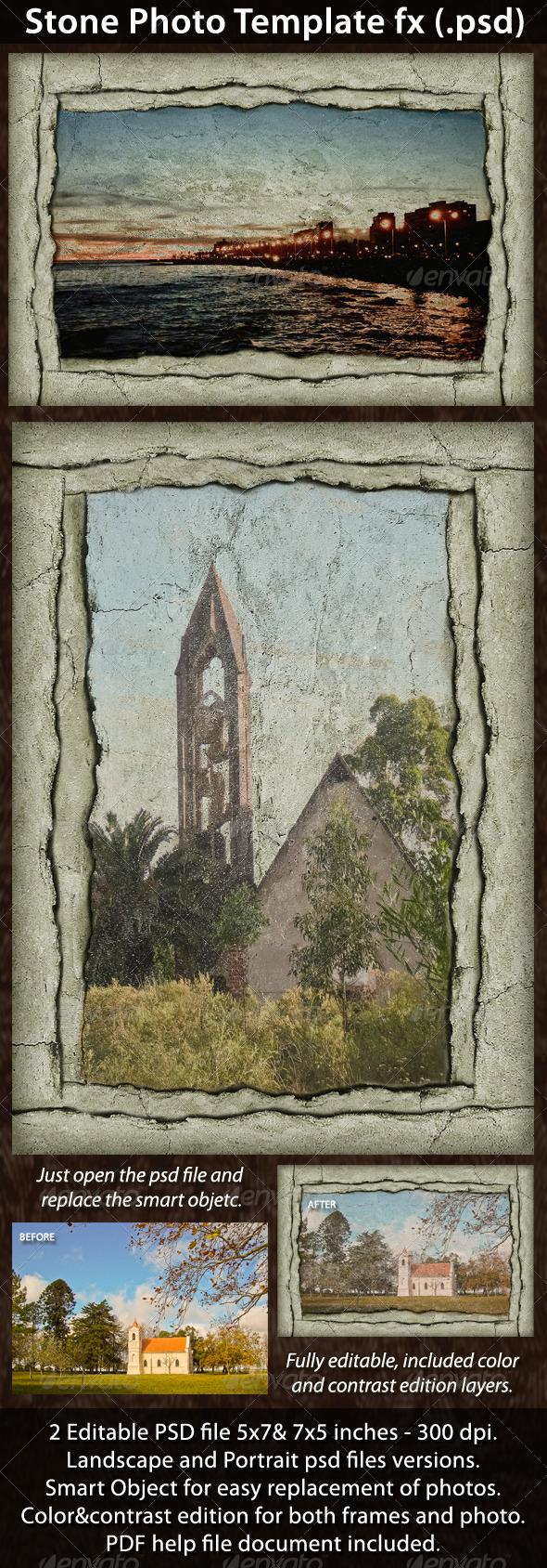 Stone Photo Template FX - Photo Templates Graphics