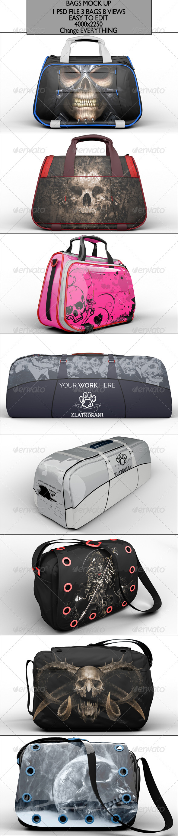 Bag Pack Mock Up - Miscellaneous Product Mock-Ups