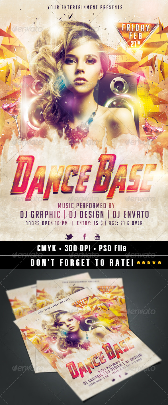 Dance Base Flyer - Clubs & Parties Events