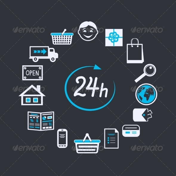 Internet Website Store Open 24 Hours