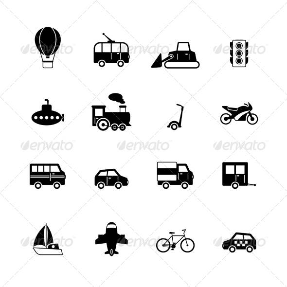 Transportation Pictograms Collection - Web Icons