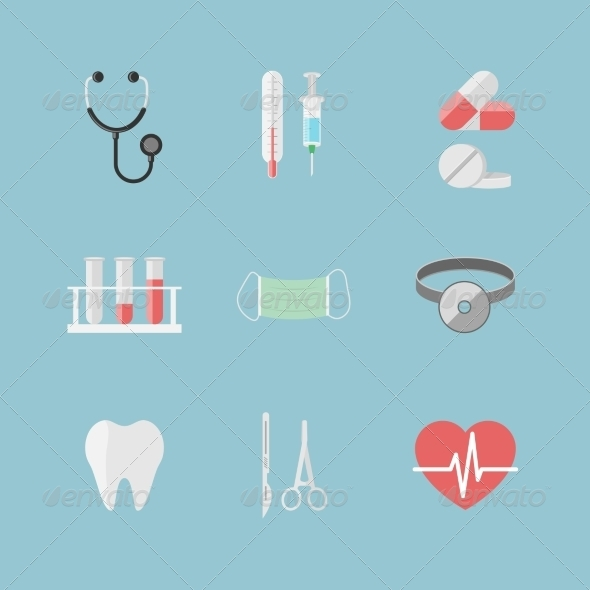 Health Care Pictograms - Health/Medicine Conceptual