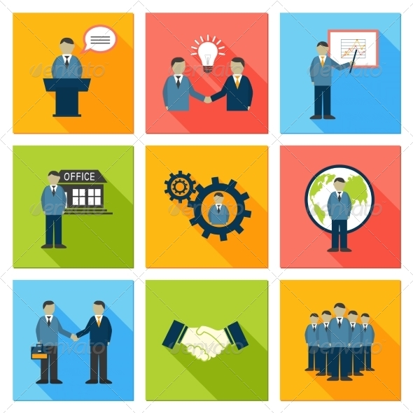Collection of Flat Business People - Concepts Business