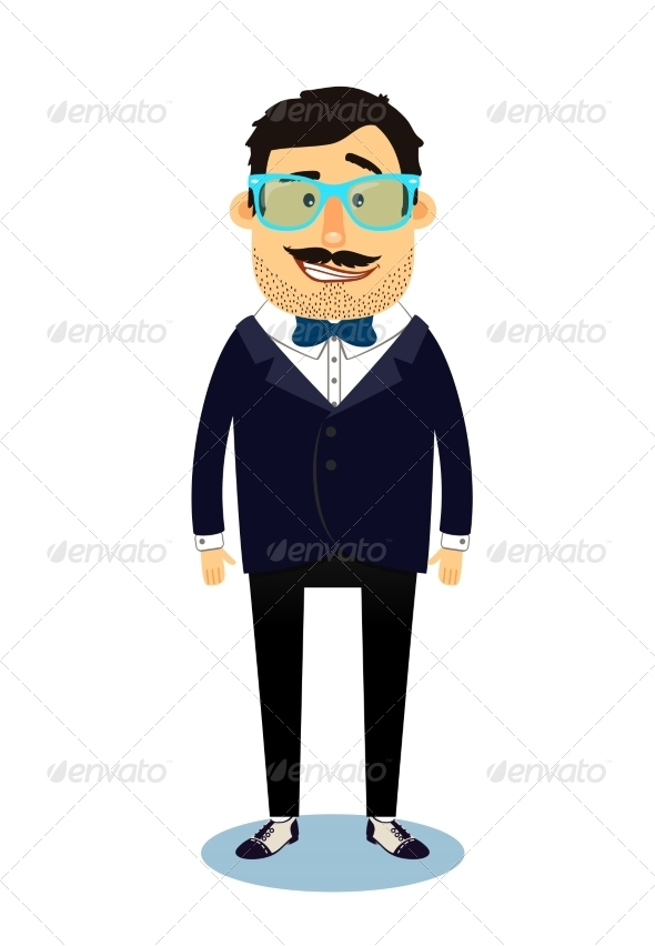 Hipster Business Man Character - People Characters