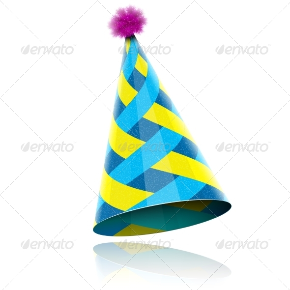 Glossy Cone-like Hat For Event Celebration. - Birthdays Seasons/Holidays