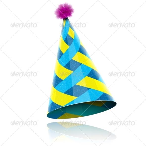 Glossy Cone-like Hat For Event Celebration. - Birthdays Seasons/Holidays