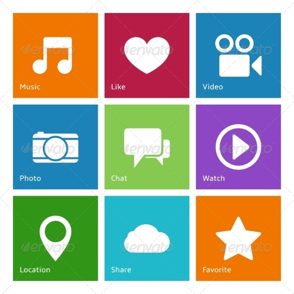 Social Media User Interface Elements - Web Icons