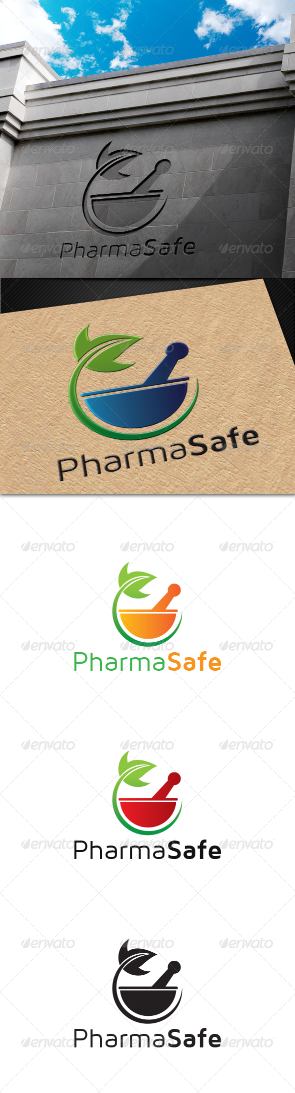 PharmaSafe Logo - Nature Logo Templates