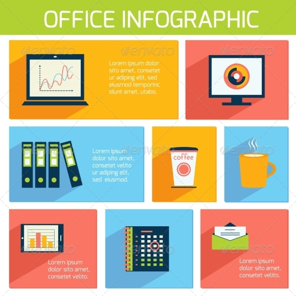 Office Infographics Flat Business Template - Concepts Business