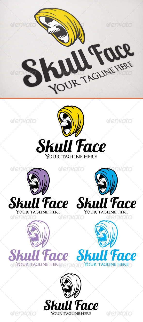 Skull Face - Humans Logo Templates