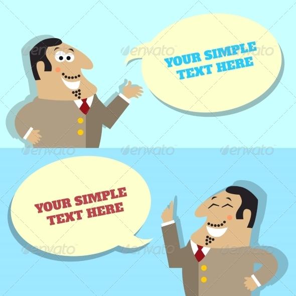 Businessman Speech Bubble  - Concepts Business