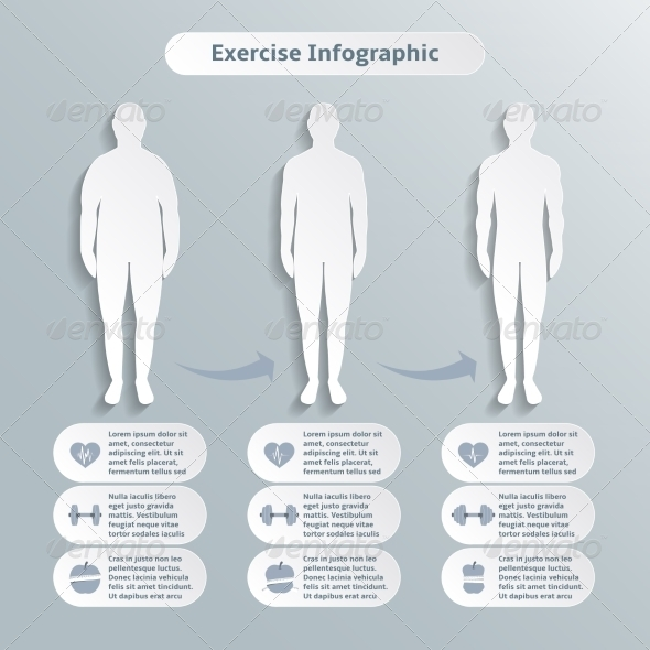 Infographic Elements for Men Fitness - Sports/Activity Conceptual