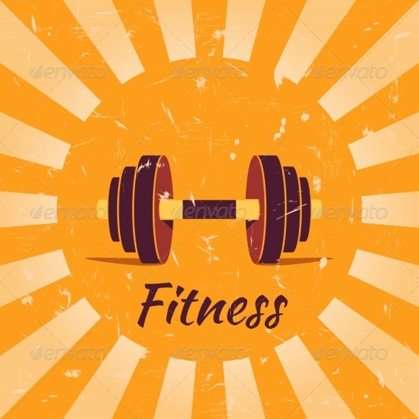 Vintage Fitness Poster Background - Backgrounds Decorative