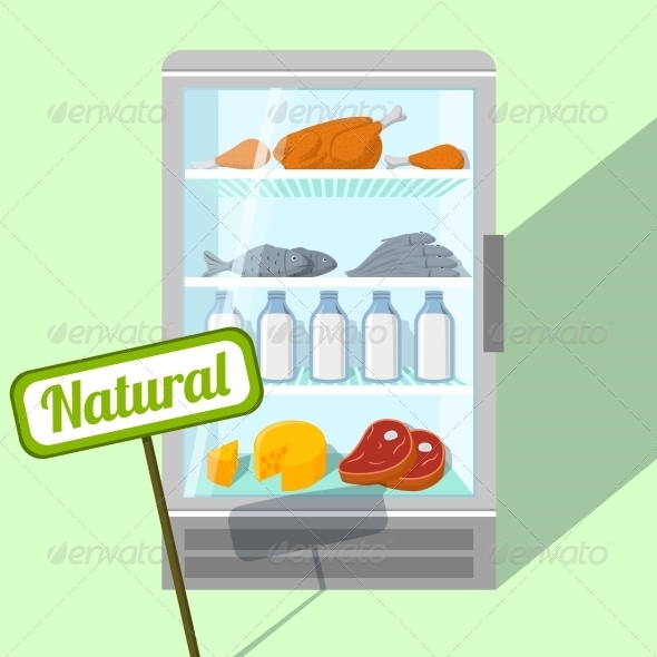 Natural Foods in Refrigerator - Concepts Business