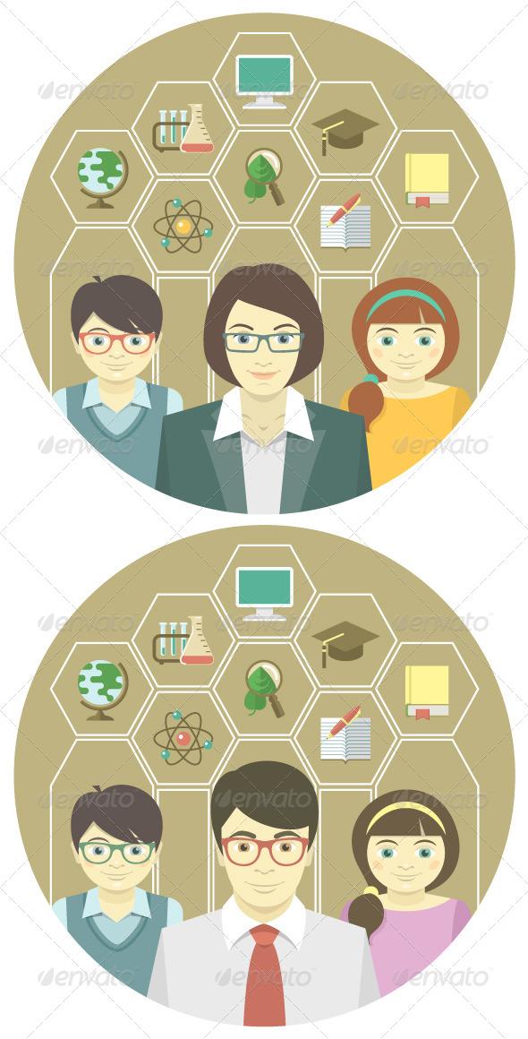 Teacher and Pupils - Miscellaneous Conceptual