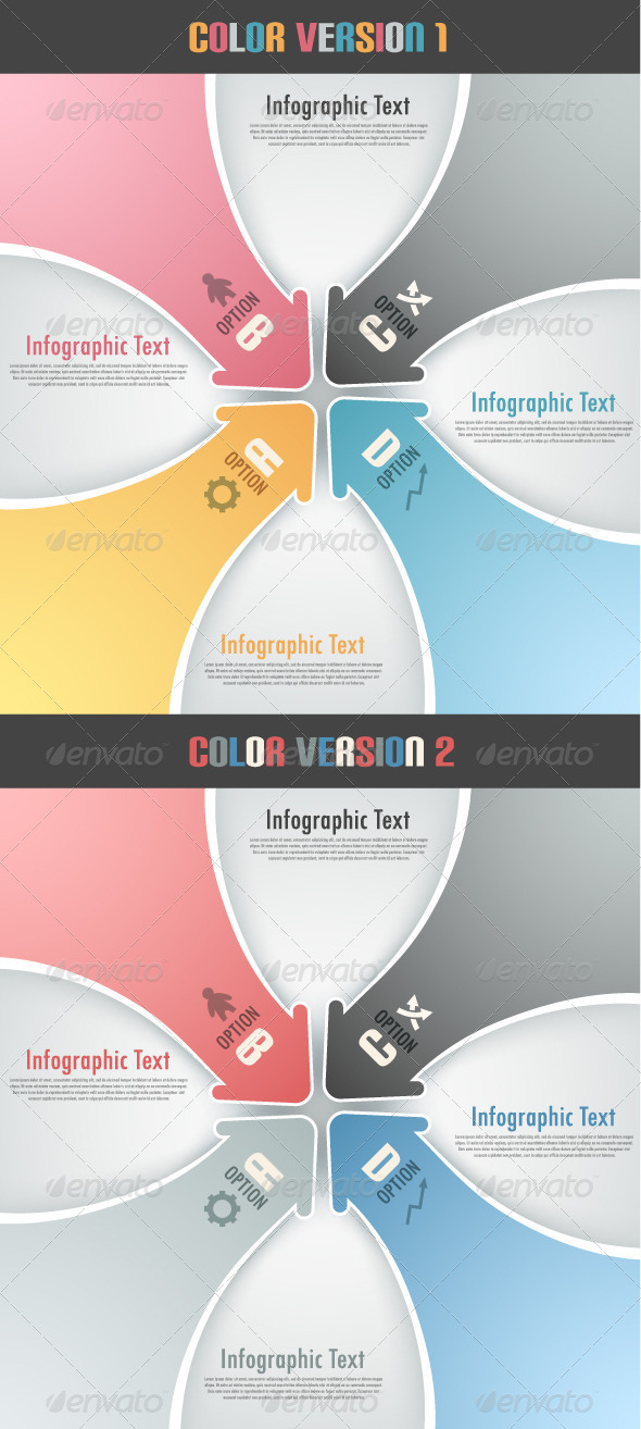 Modern Infographic Options Banner With Arrows - Infographics