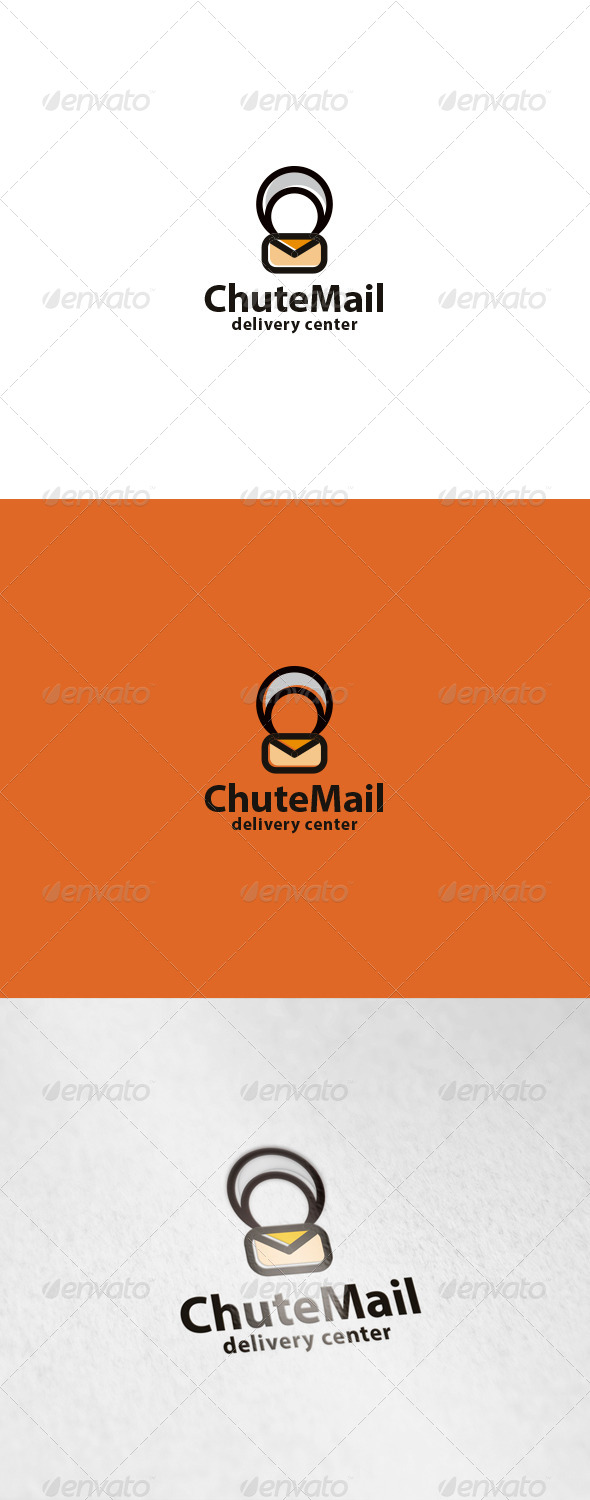 Chute Mail Logo - Objects Logo Templates
