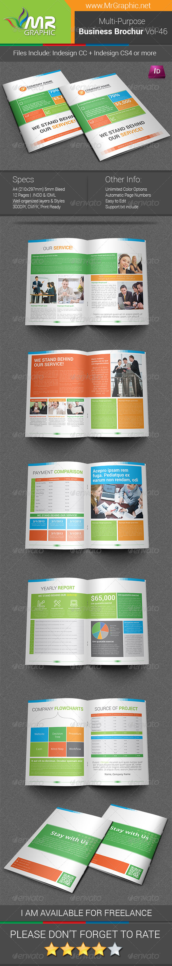 Multipurpose Business Brochure Template Vol-46 - Corporate Brochures