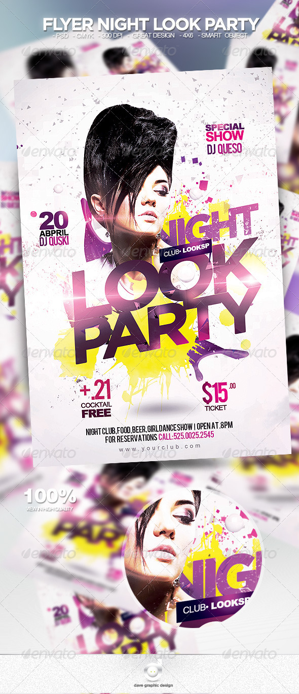 Flyer Night Look Party - Clubs & Parties Events