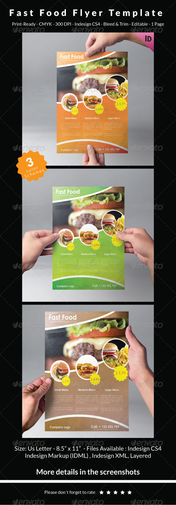 Fast Food Flyer Template - Restaurant Flyers