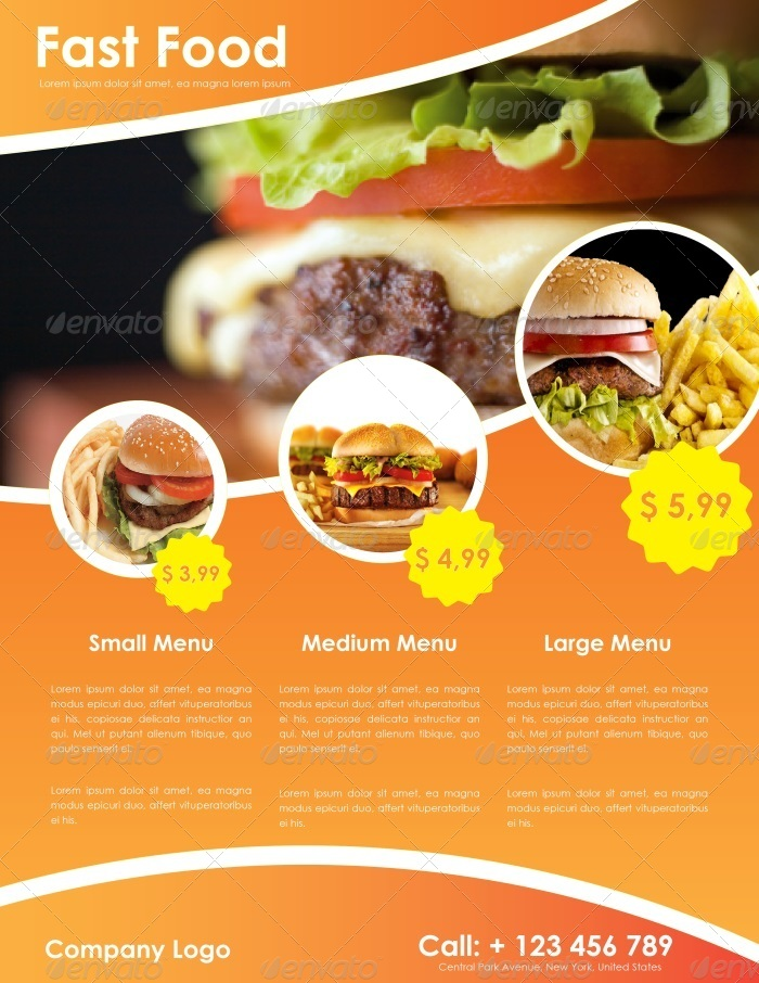Fast Food Flyer Template by carlos_fernando | GraphicRiver