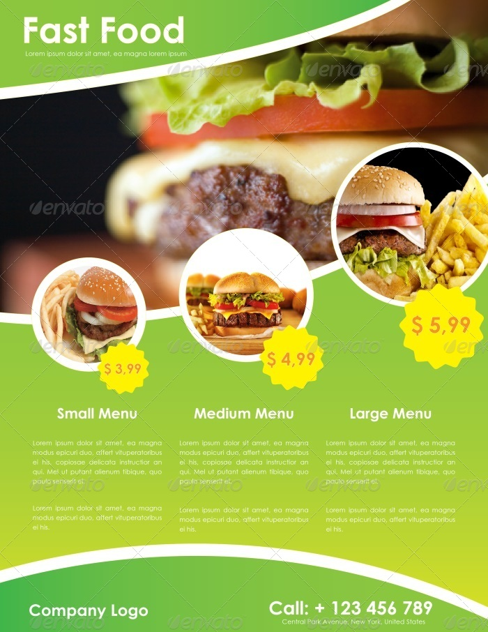 Fast Food Flyer Template By CarlosFernando  Graphicriver