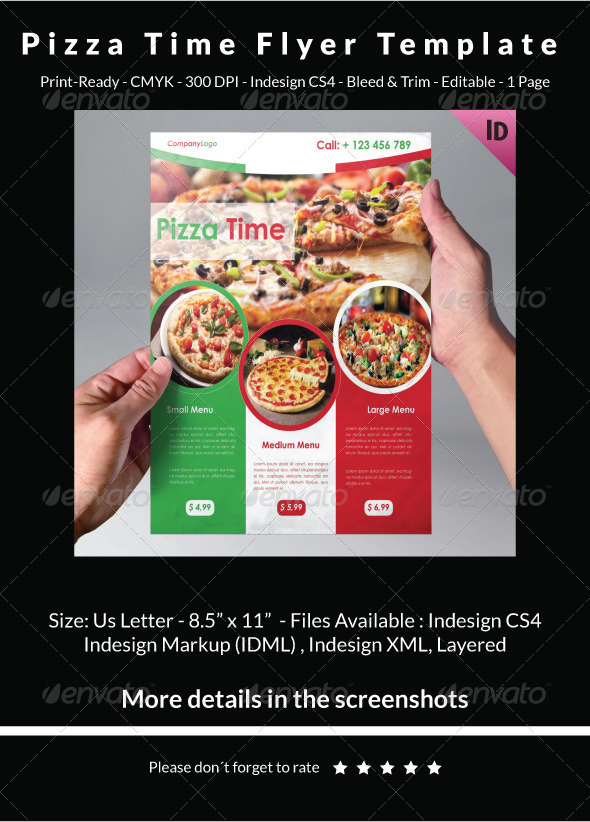 Pizza Time Flyer Template - Restaurant Flyers