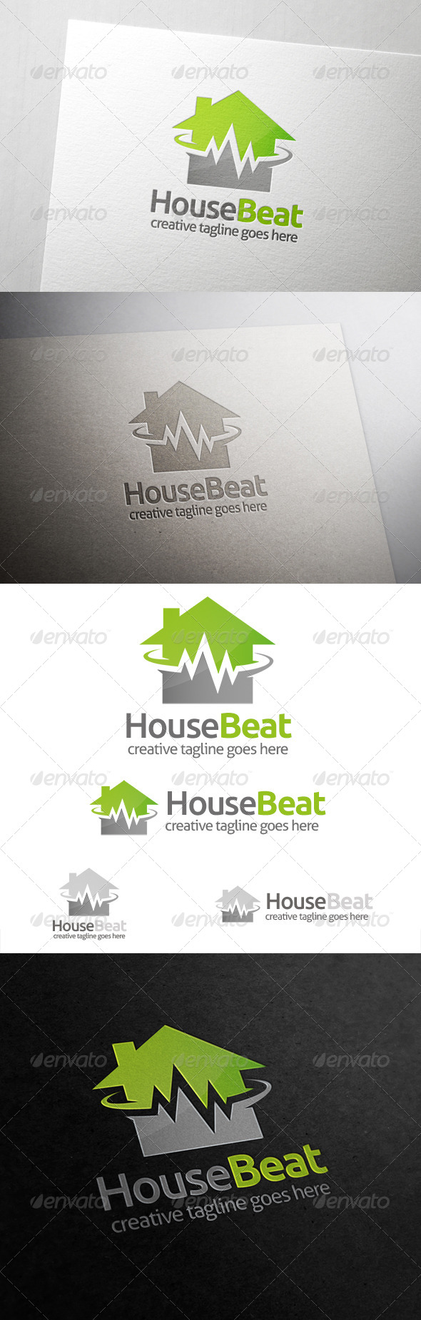 House Beat Logo - Buildings Logo Templates