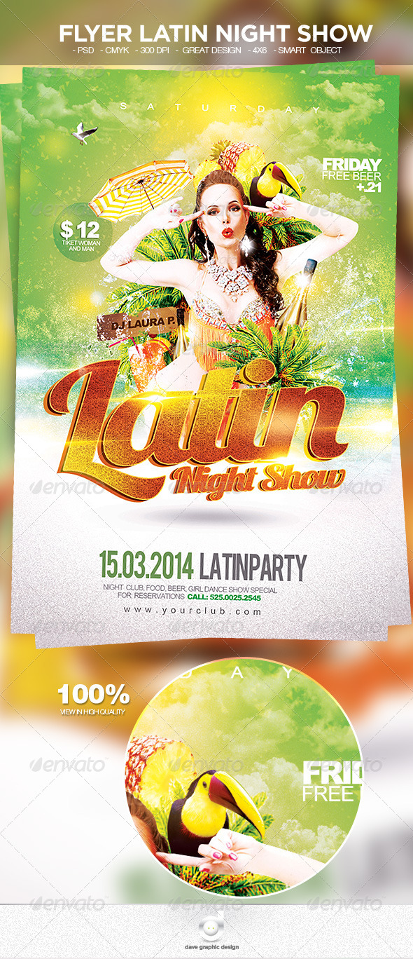 Flyer Latin Night Show - Clubs & Parties Events