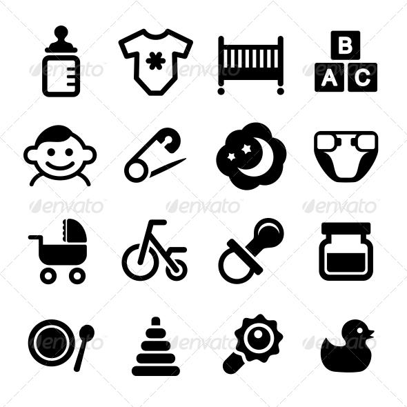 Baby Icon Set - Miscellaneous Icons