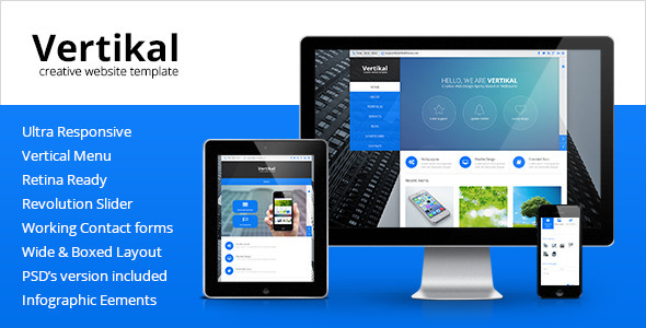 Vertikal – Multipurpose HTML5 Template