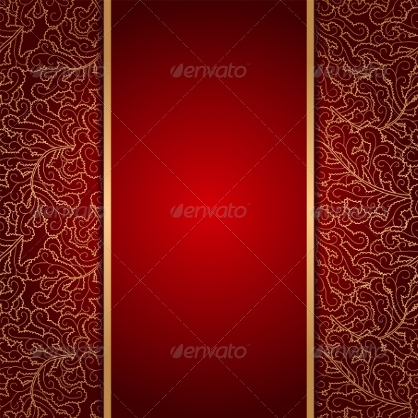 Elegant Burgundy Background with Lace Ornament - Patterns Decorative
