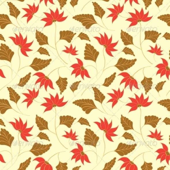 Flowers Seamless Pattern - Flowers & Plants Nature