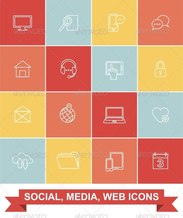 Simply Social, Media, Web Icons - Web Icons