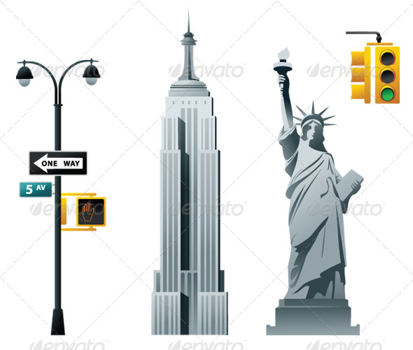 New York - Objects Vectors