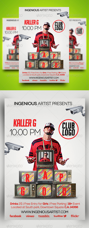 Rap God Party Flyer - Clubs & Parties Events