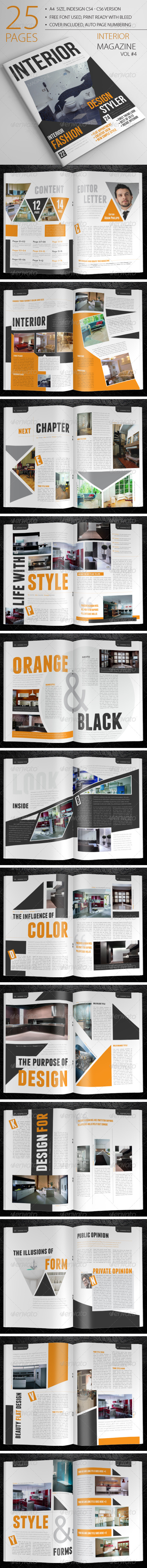 25 Pages Interior Magazine Vol4 - Magazines Print Templates