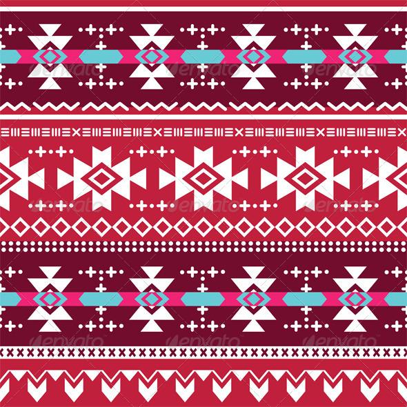 Tribal Aztec Seamless Pattern - Patterns Decorative