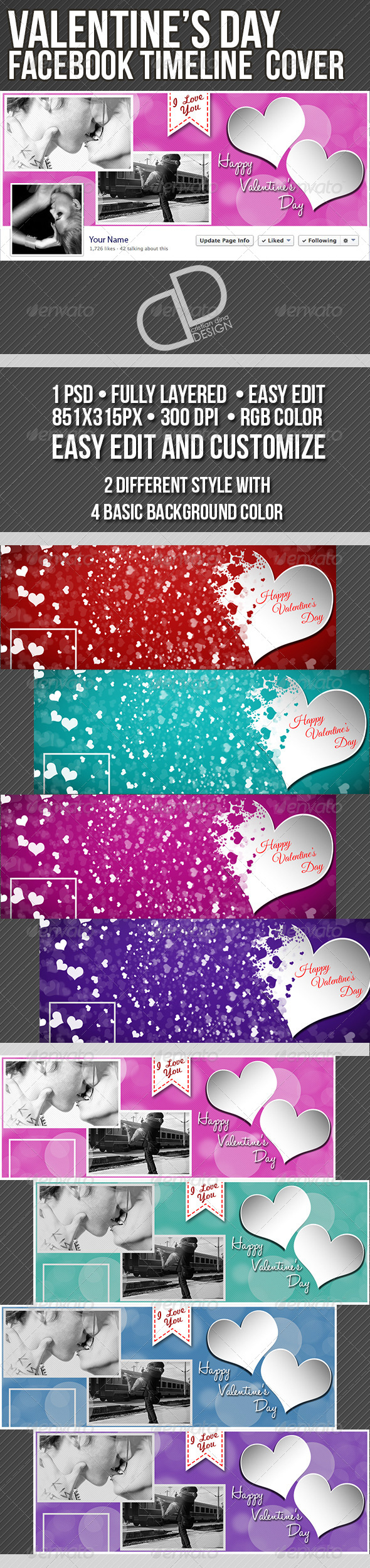 Valentine's Day Timeline Cover - Facebook Timeline Covers Social Media