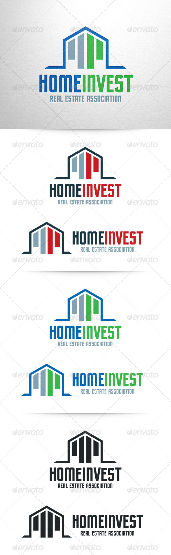 Home Invest Logo Template - Buildings Logo Templates